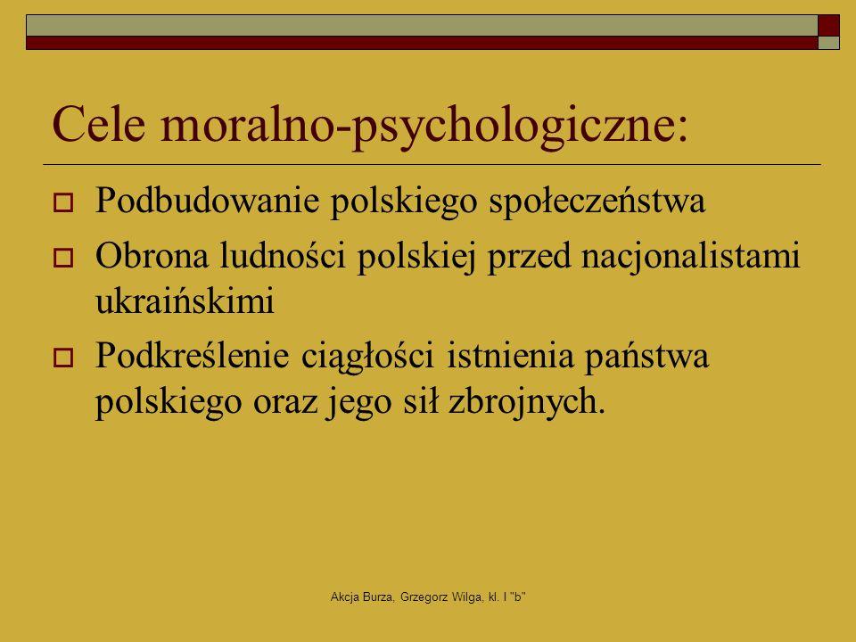 Cele moralno-psychologiczne: