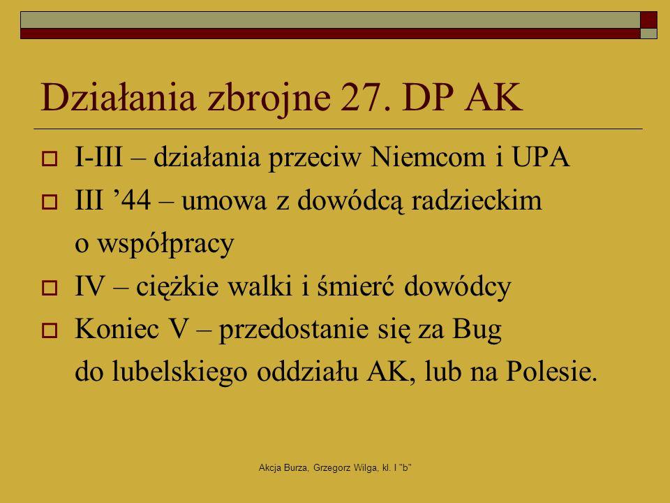 Działania zbrojne 27. DP AK