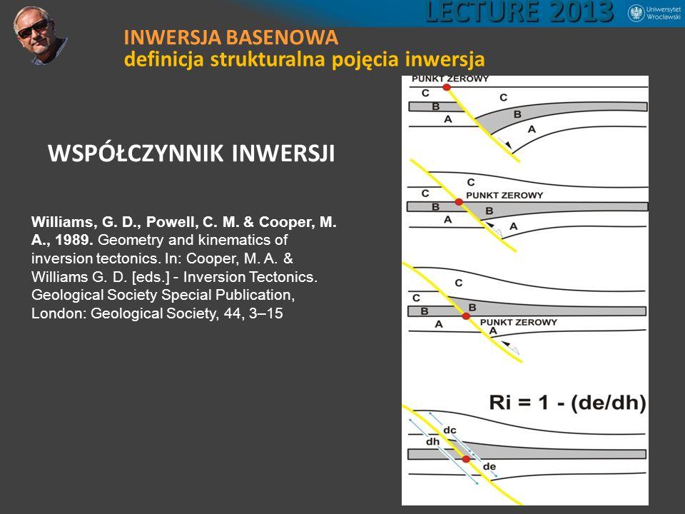LECTURE 2013 WSPÓŁCZYNNIK INWERSJI INWERSJA BASENOWA