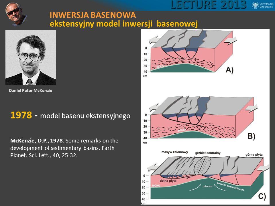 LECTURE 2013 1978 - model basenu ekstensyjnego INWERSJA BASENOWA
