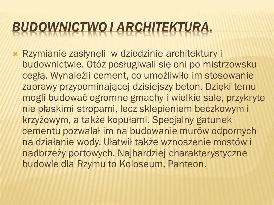 Budownictwo i architektura.