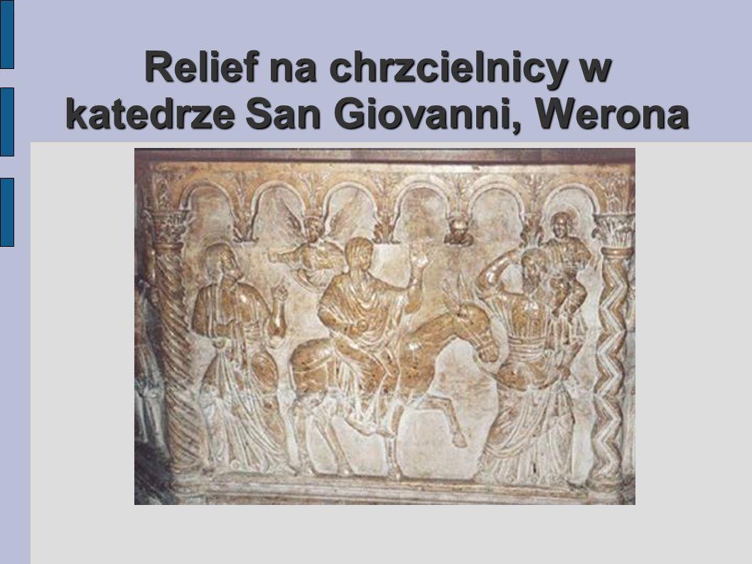 Relief na chrzcielnicy w katedrze San Giovanni, Werona