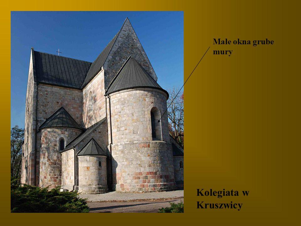 Małe okna grube mury Kolegiata w Kruszwicy