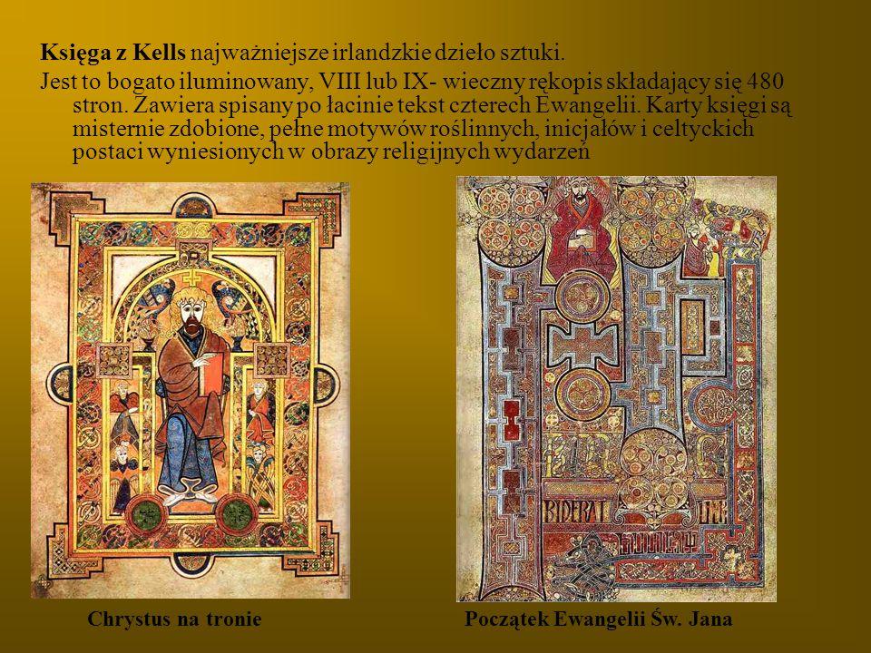 Księga z Kells najważniejsze irlandzkie dzieło sztuki.
