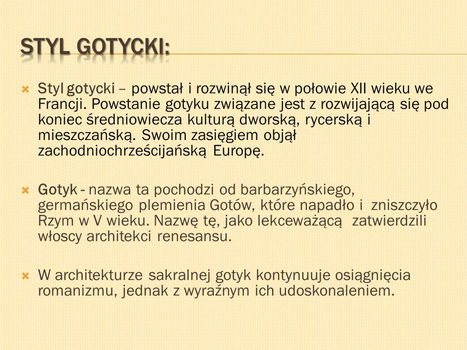 Styl gotycki: