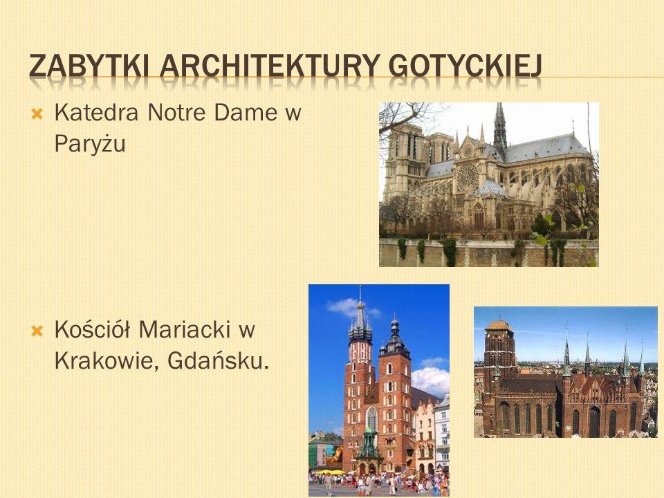 Zabytki architektury gotyckiej