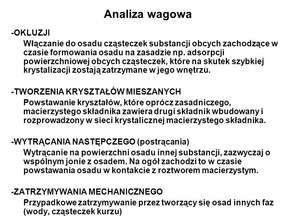 Analiza wagowa -OKLUZJI