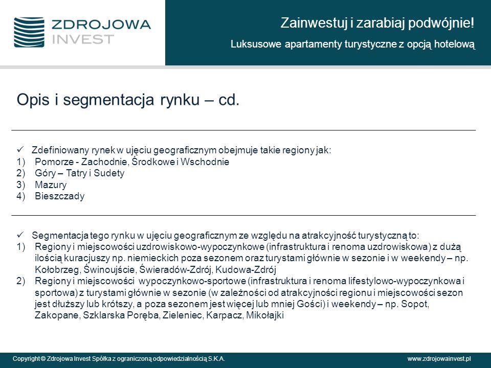 Opis i segmentacja rynku – cd.