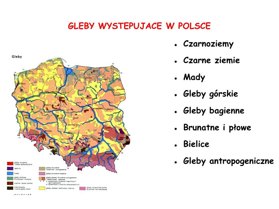 GLEBY WYSTEPUJACE W POLSCE