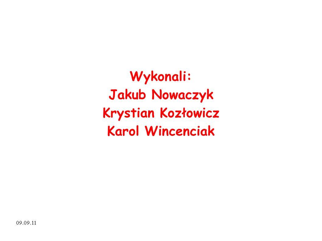 Wykonali: Jakub Nowaczyk Krystian Kozłowicz Karol Wincenciak