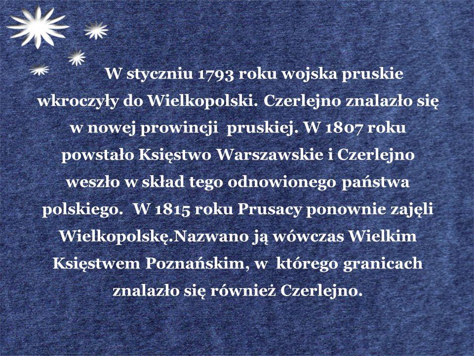 W styczniu 1793 roku wojska pruskie wkroczyły do Wielkopolski