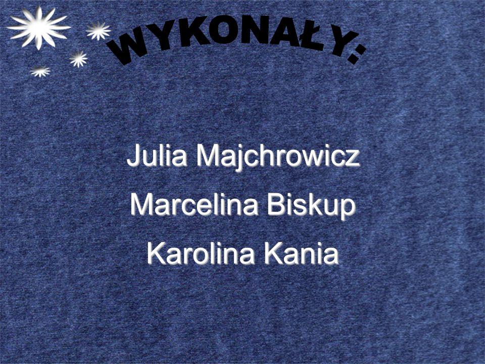 WYKONAŁY: Julia Majchrowicz Marcelina Biskup Karolina Kania
