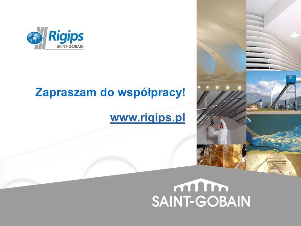 Zapraszam do współpracy! www.rigips.pl
