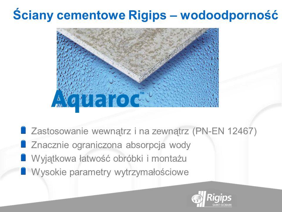 Ściany cementowe Rigips – wodoodporność