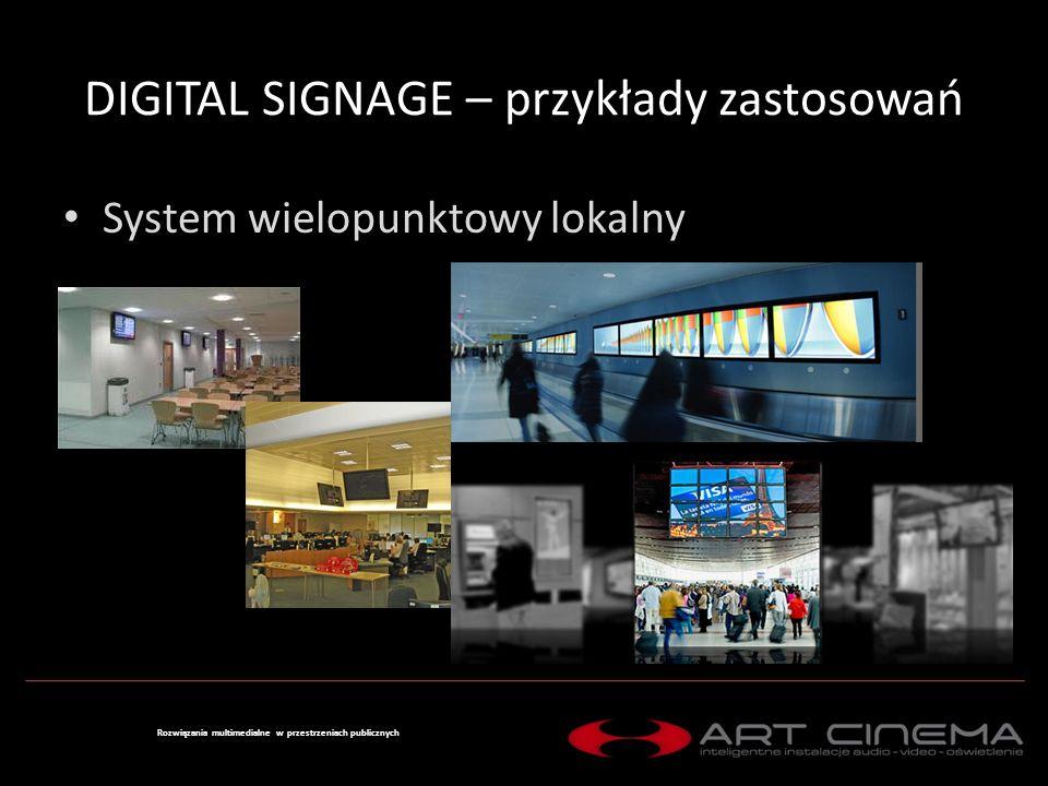 DIGITAL SIGNAGE – przykłady zastosowań