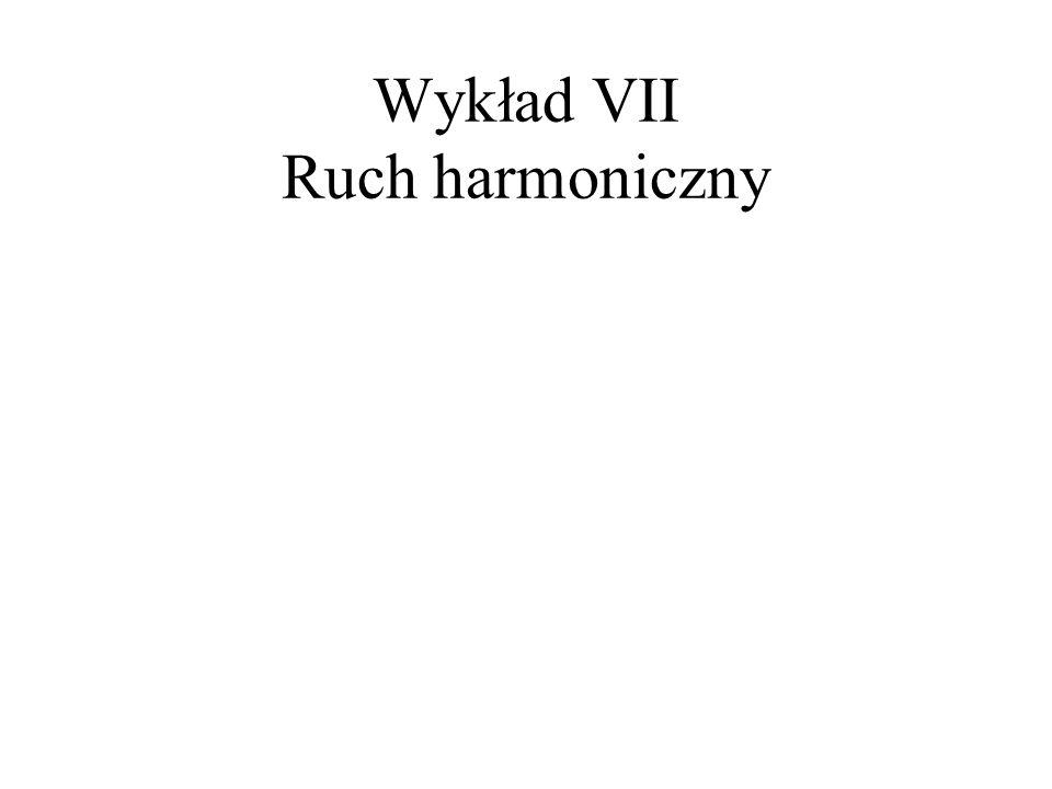 Wykład VII Ruch harmoniczny