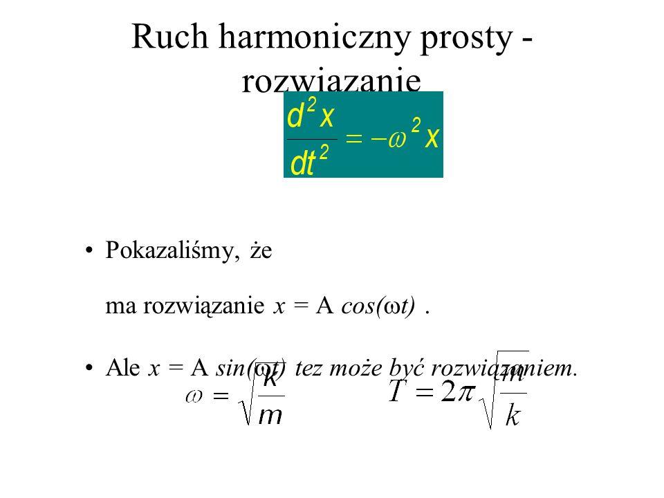 Ruch harmoniczny prosty -rozwiązanie