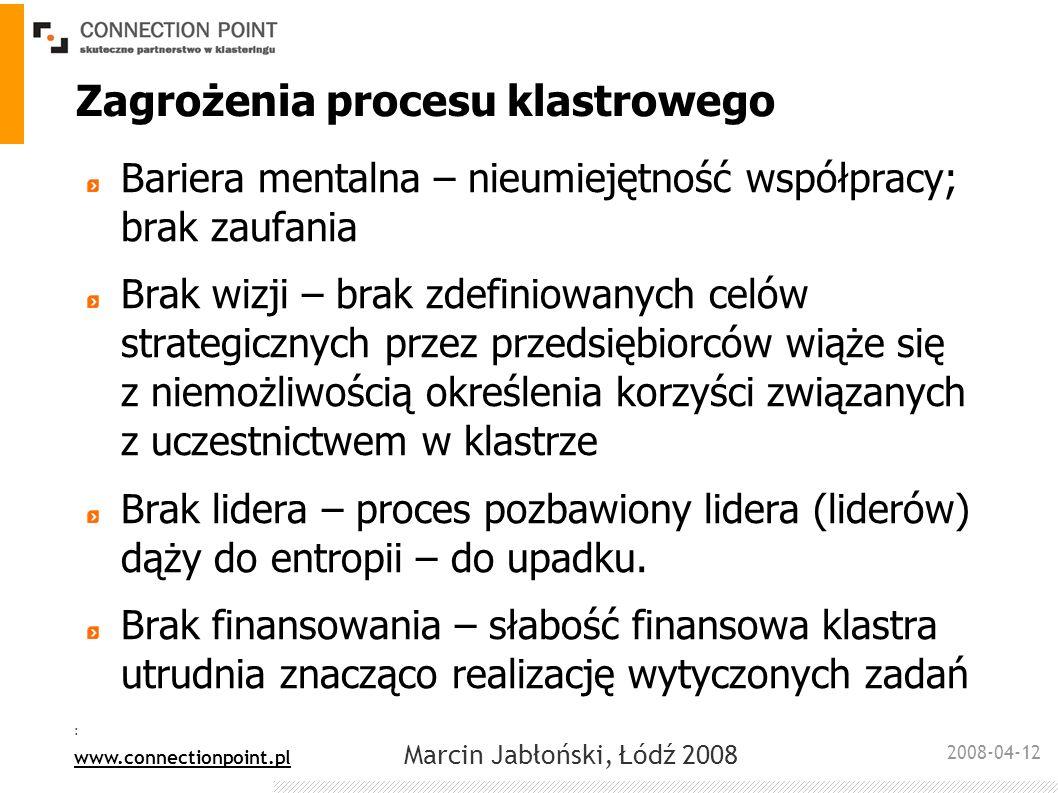 Zagrożenia procesu klastrowego