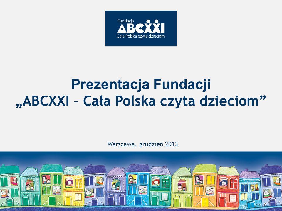 """Prezentacja Fundacji """"ABCXXI – Cała Polska czyta dzieciom"""
