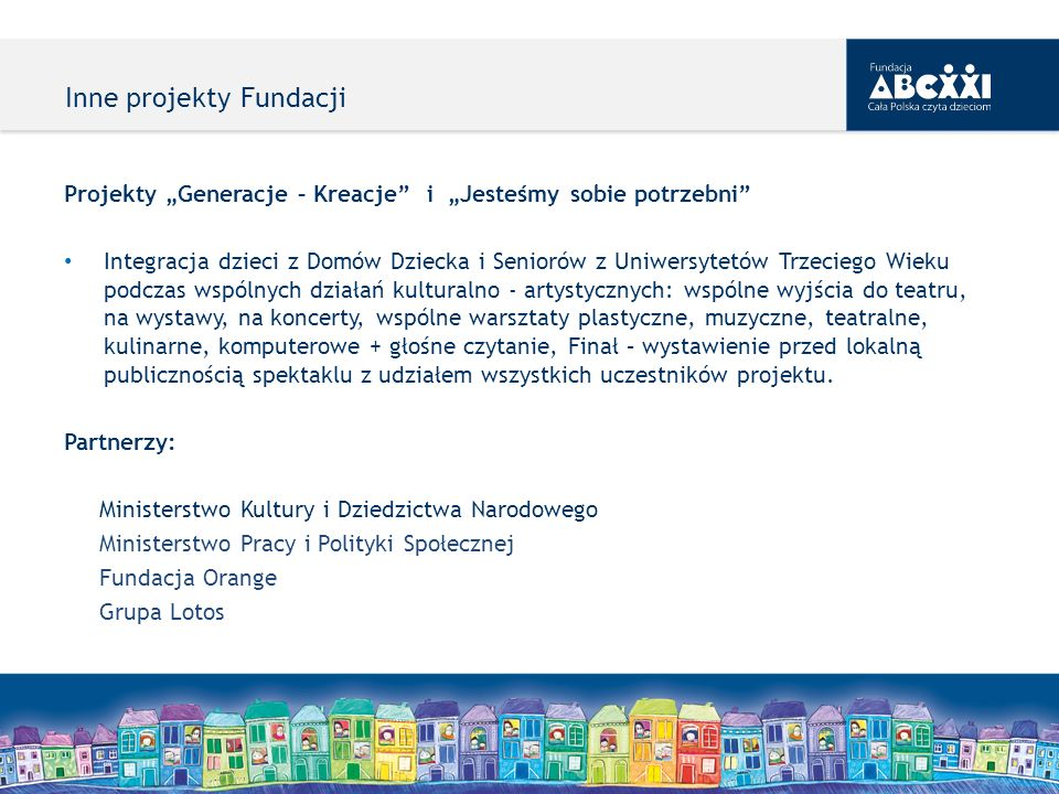 Inne projekty Fundacji