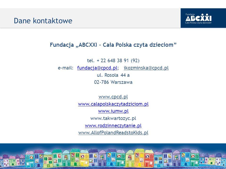 """Fundacja """"ABCXXI – Cała Polska czyta dzieciom"""
