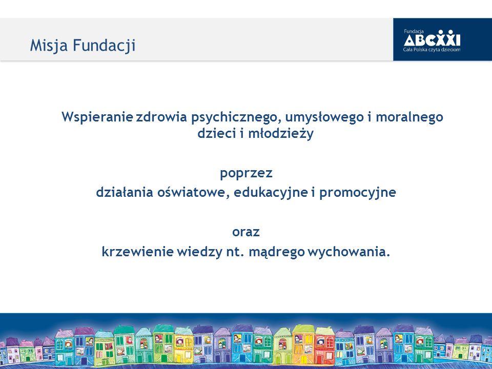 Misja Fundacji Wspieranie zdrowia psychicznego, umysłowego i moralnego dzieci i młodzieży. poprzez.
