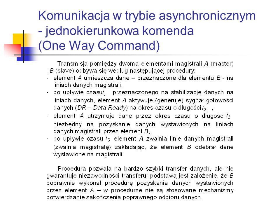 Komunikacja w trybie asynchronicznym - jednokierunkowa komenda (One Way Command)