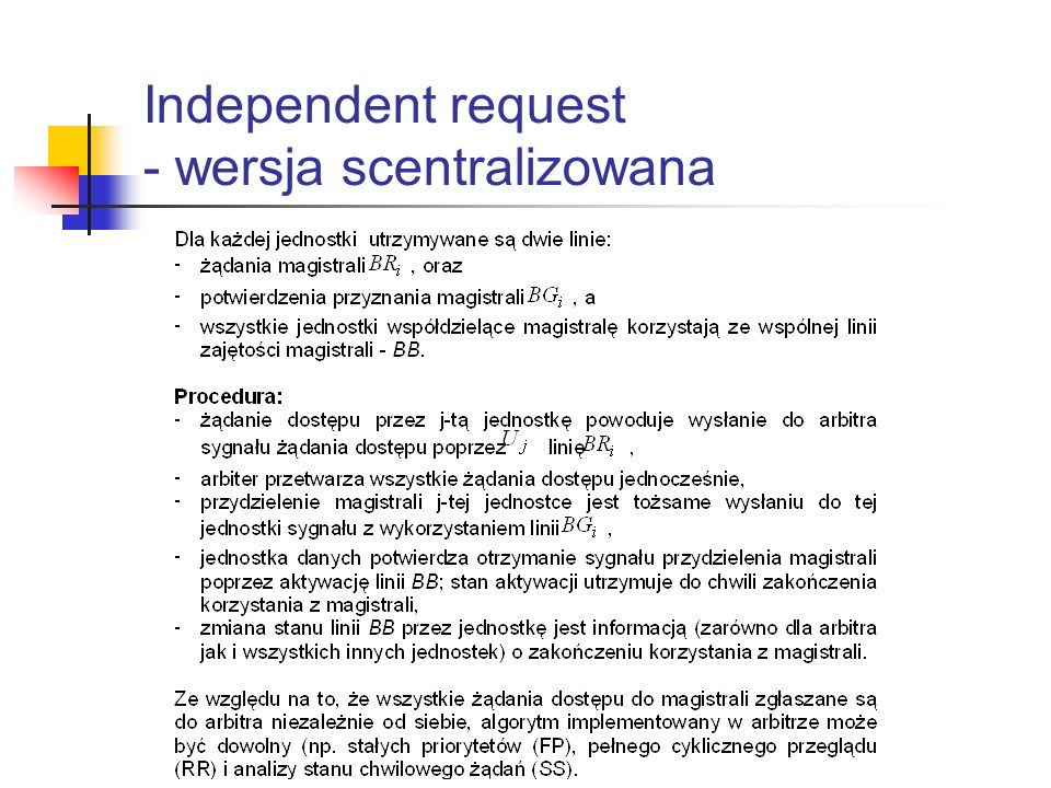 Independent request - wersja scentralizowana