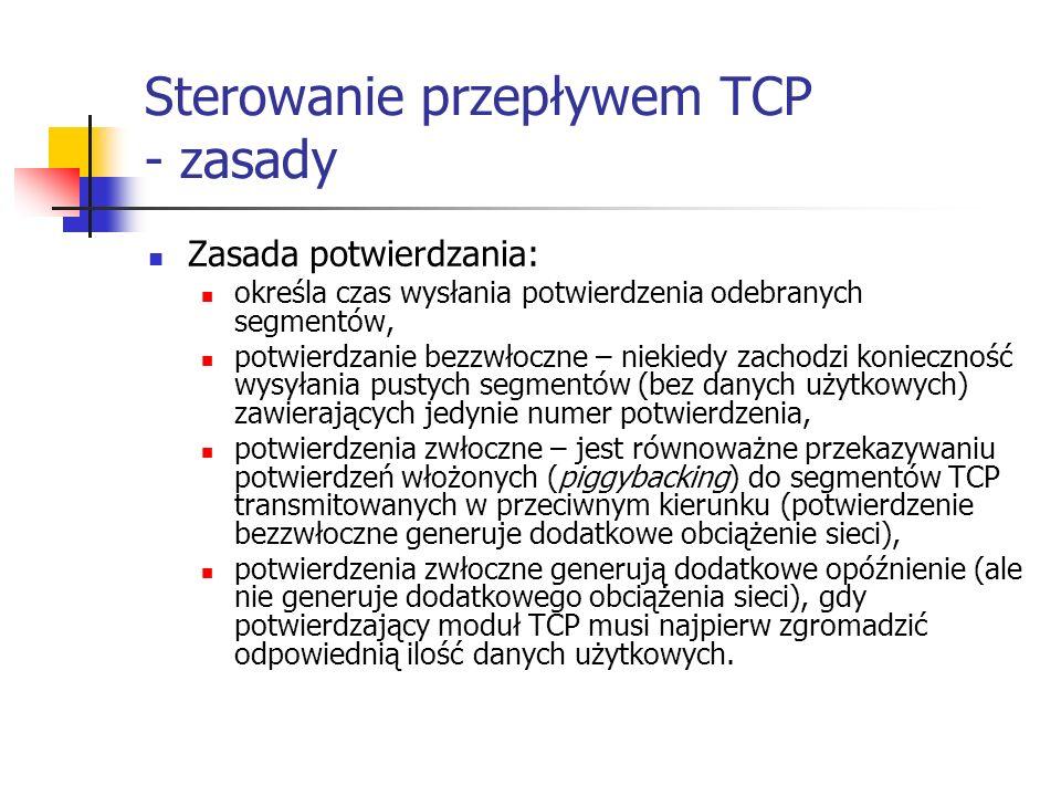 Sterowanie przepływem TCP - zasady