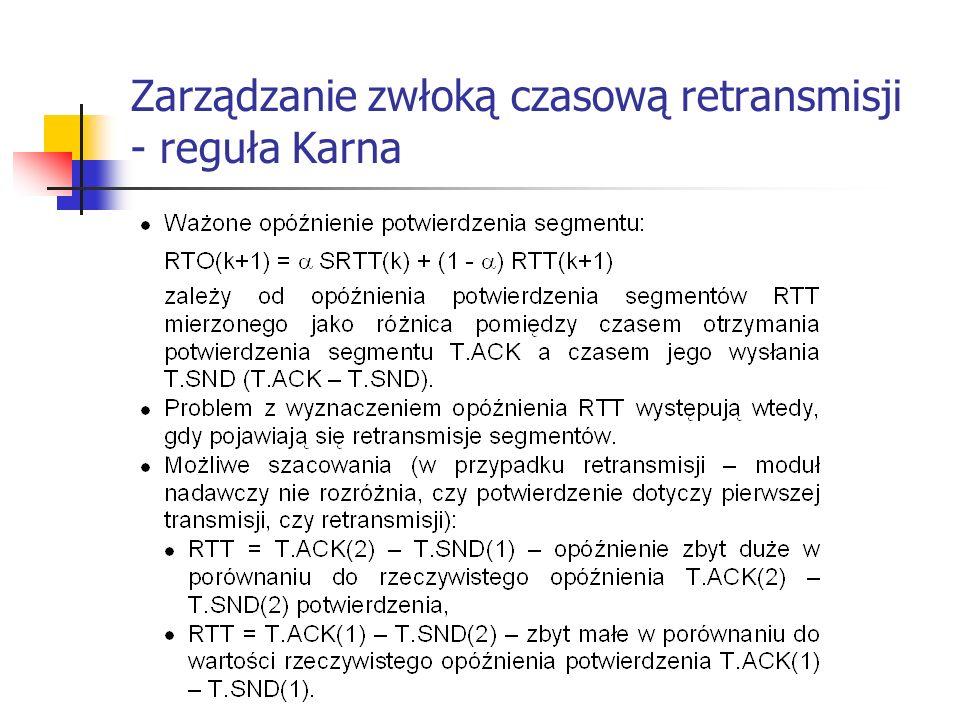 Zarządzanie zwłoką czasową retransmisji - reguła Karna