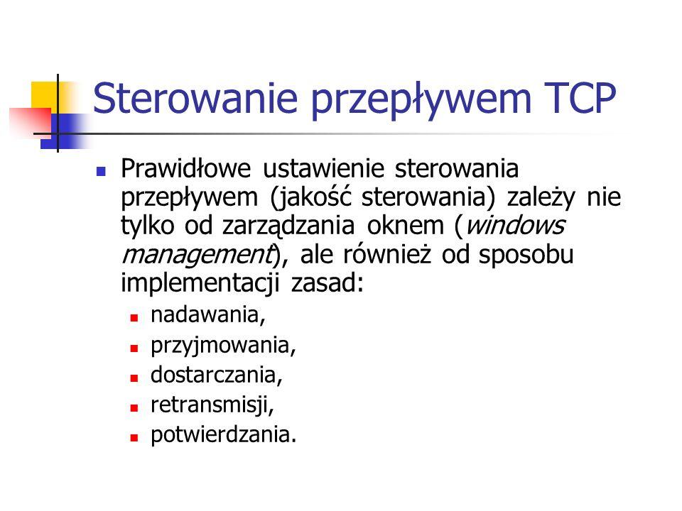 Sterowanie przepływem TCP