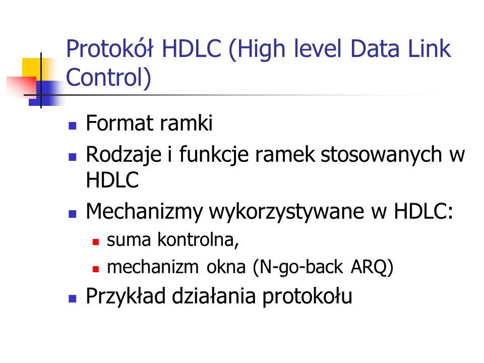 Protokół HDLC (High level Data Link Control)
