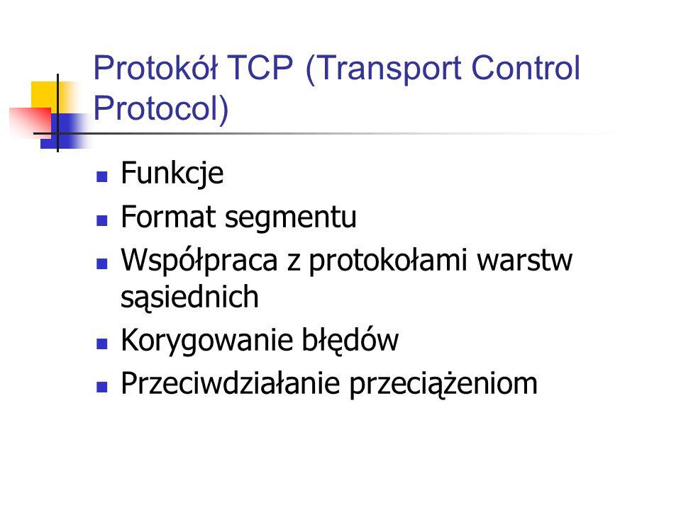 Protokół TCP (Transport Control Protocol)