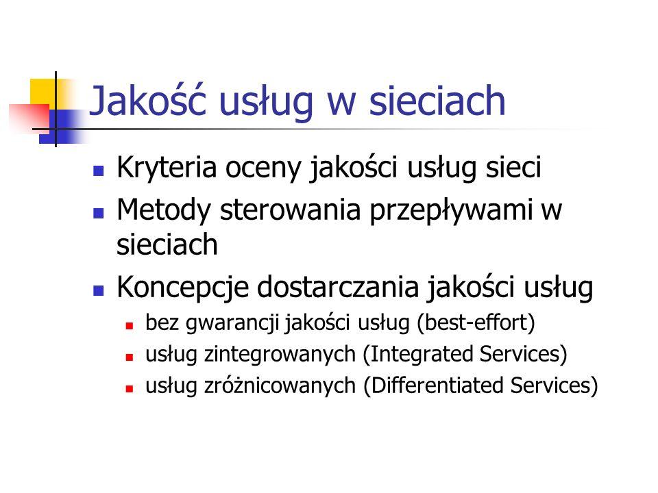 Jakość usług w sieciach