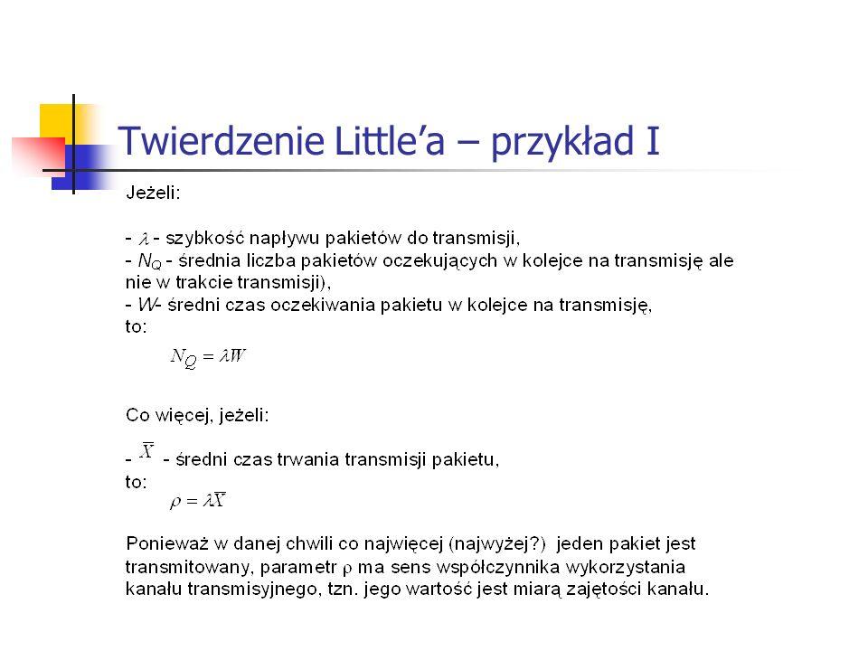 Twierdzenie Little'a – przykład I