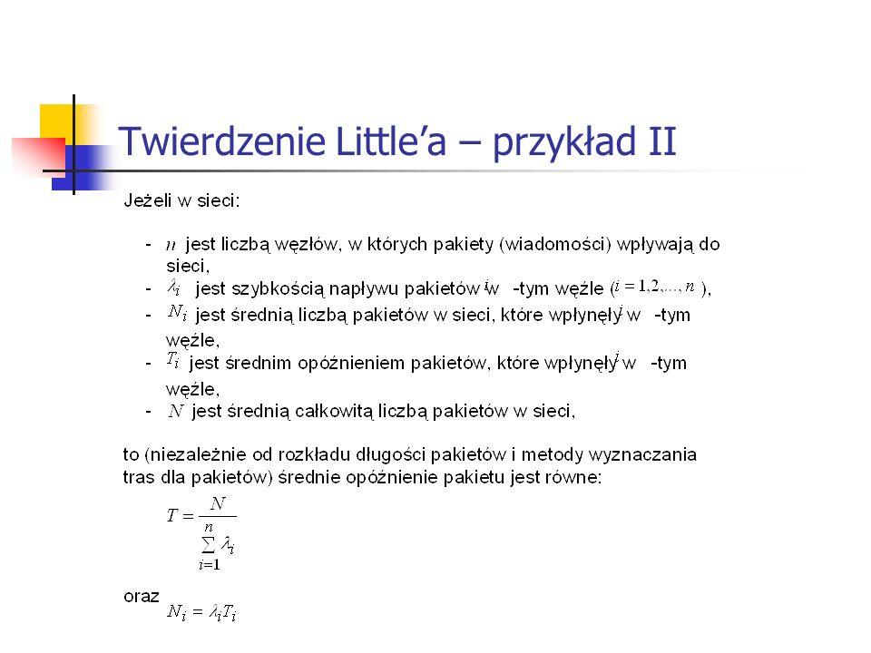 Twierdzenie Little'a – przykład II