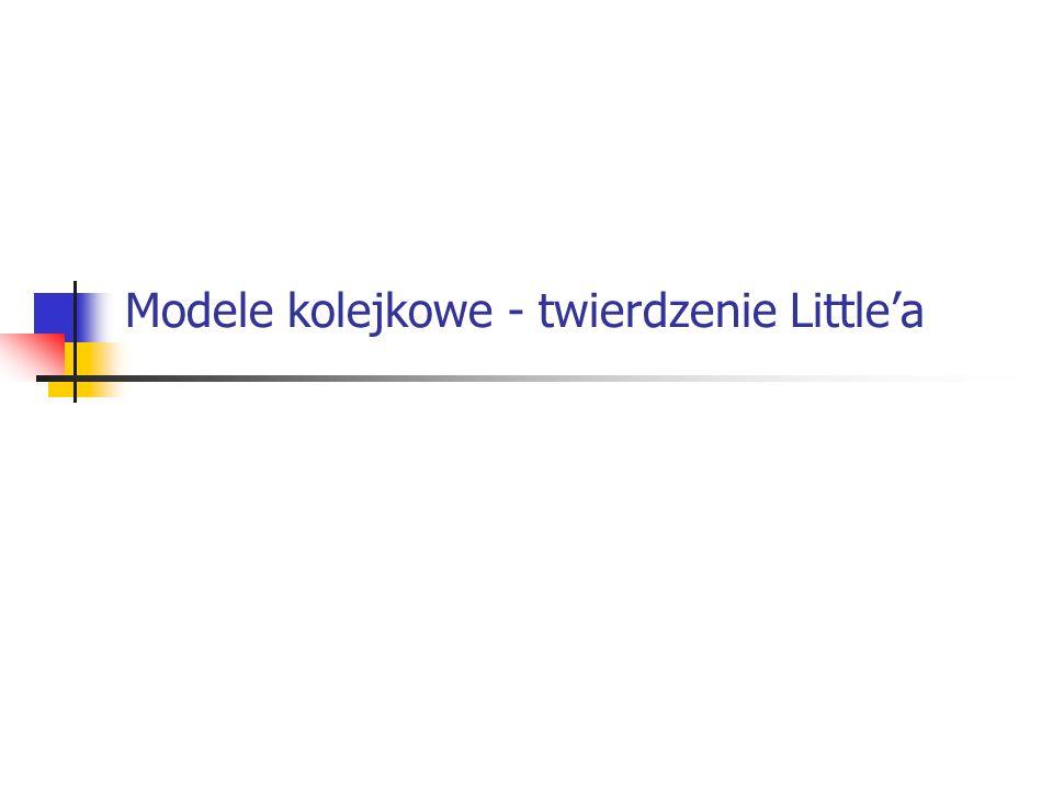 Modele kolejkowe - twierdzenie Little'a