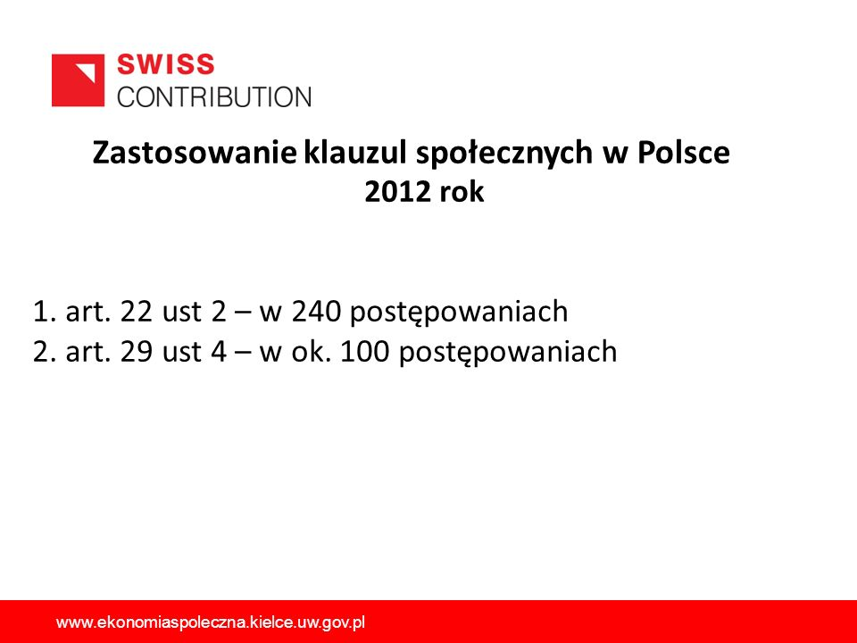 Zastosowanie klauzul społecznych w Polsce