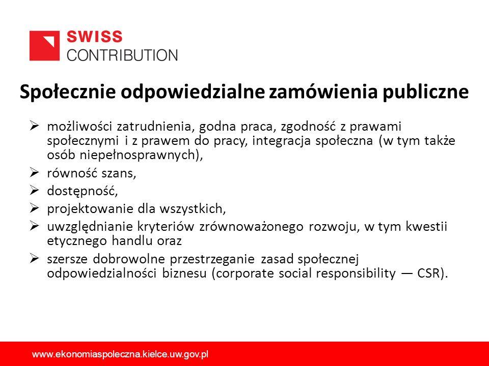 Społecznie odpowiedzialne zamówienia publiczne