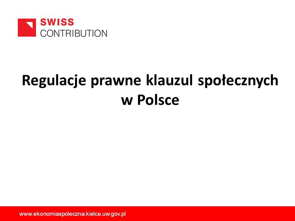 Regulacje prawne klauzul społecznych w Polsce