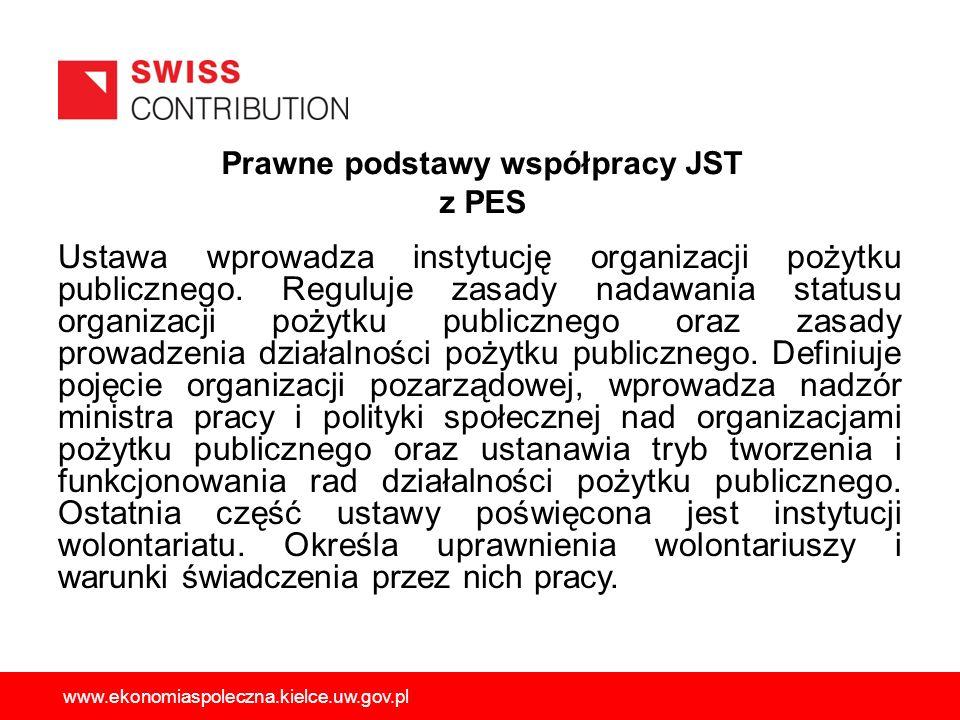 Prawne podstawy współpracy JST z PES