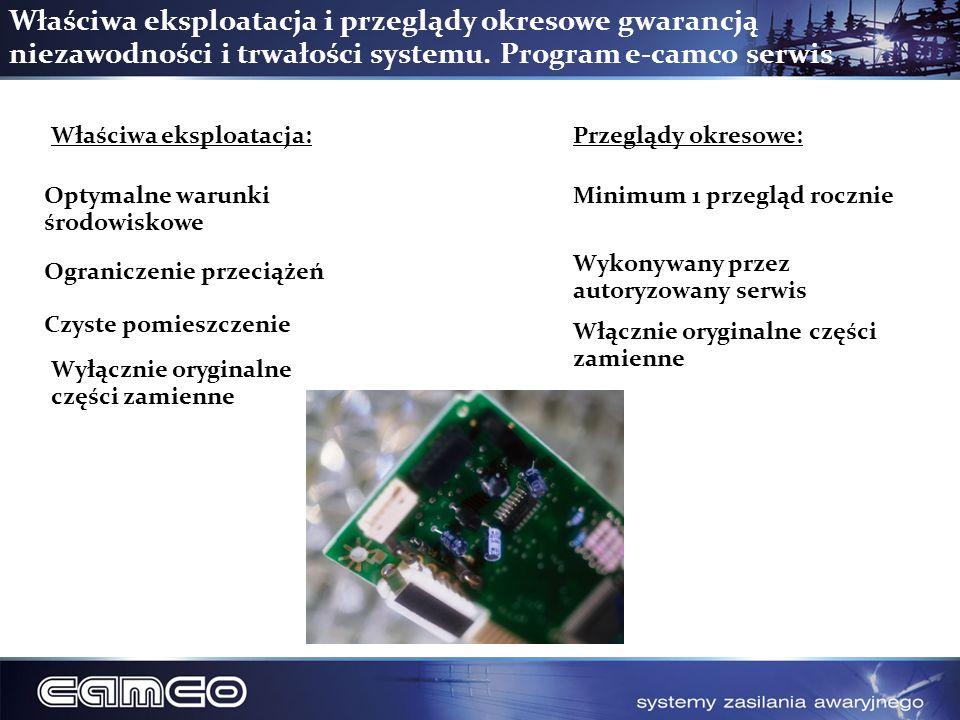 Właściwa eksploatacja i przeglądy okresowe gwarancją niezawodności i trwałości systemu. Program e-camco serwis
