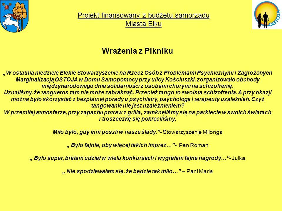 Wrażenia z Pikniku Projekt finansowany z budżetu samorządu Miasta Ełku
