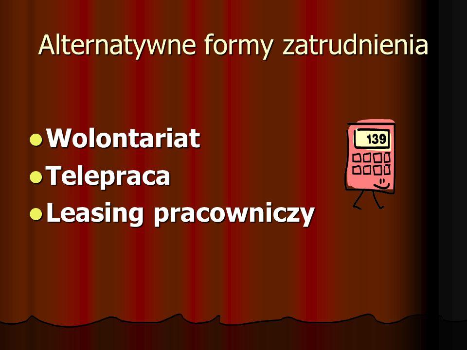 Alternatywne formy zatrudnienia