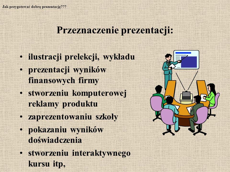 Przeznaczenie prezentacji: