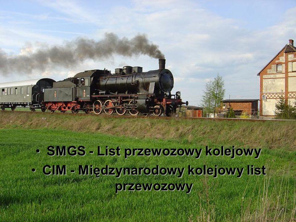SMGS - List przewozowy kolejowy