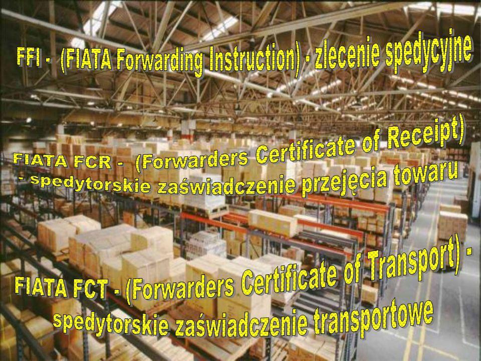 FFI - (FIATA Forwarding Instruction) - zlecenie spedycyjne