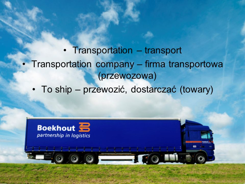 Transportation – transport
