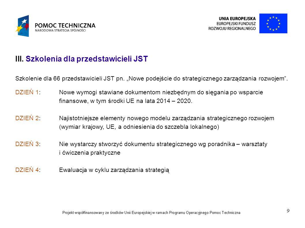 Szkolenia dla przedstawicieli JST