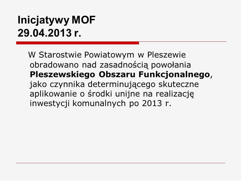 Inicjatywy MOF 29.04.2013 r.
